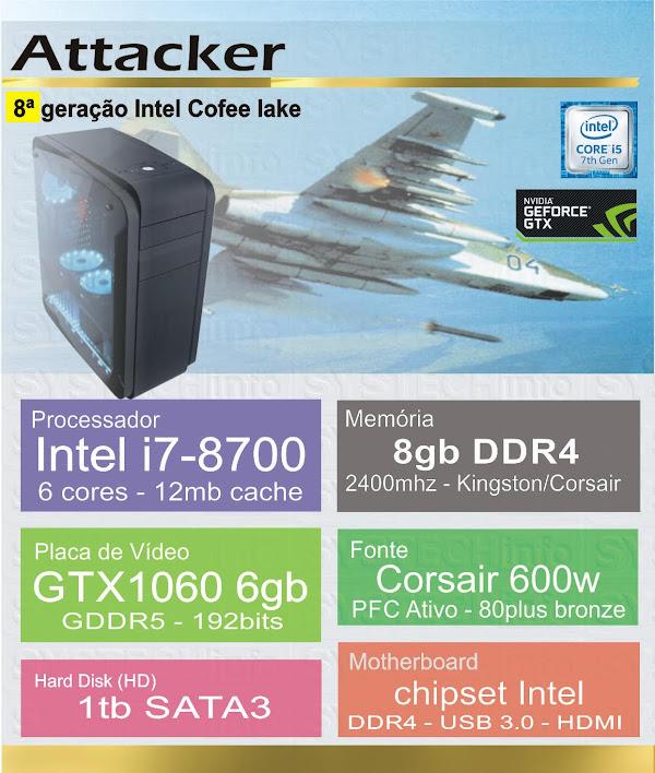 CPU Computador i7-8700 - Attacker