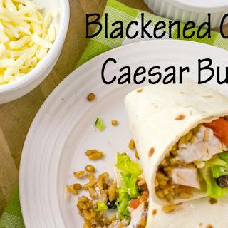 Blackened Chicken Caesar Salad Wraps