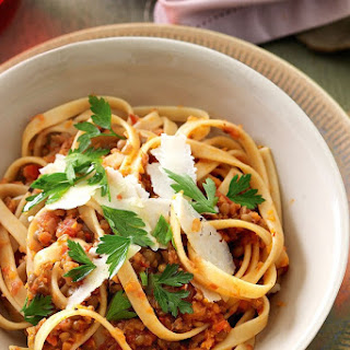 Vegetarian Bolognese with Fettuccine Recipe