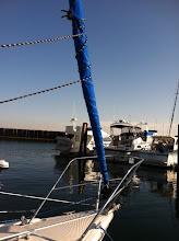 Photo: brand new pacific blue sunbrella head sail  UV protective cover