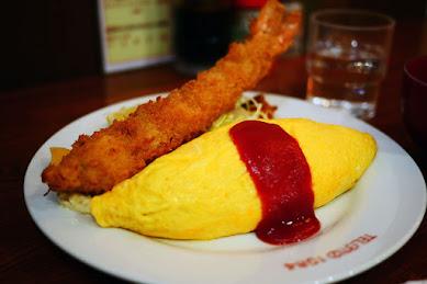 【極上】シェフの人柄が味として具現化された食堂キッチンパンチ / オムレツのエビフライのせ