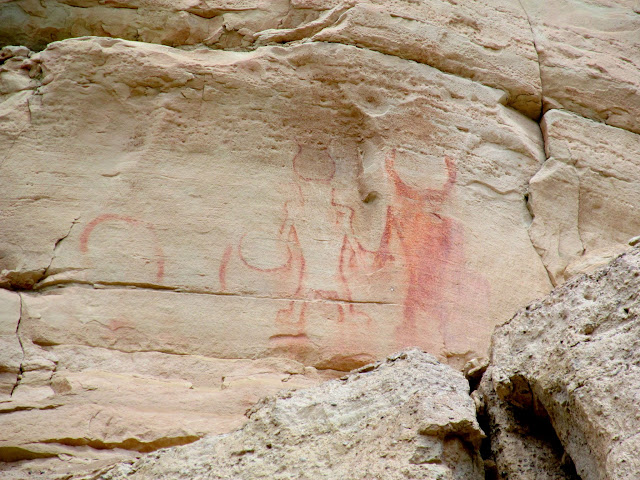 Fremont Pictographs in the Red Ledges