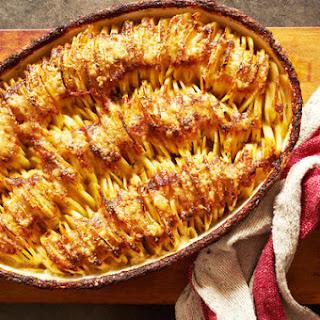 Cheesy Hasselback Potato Gratin