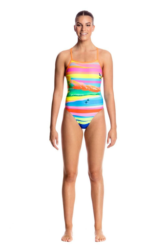 Funkita Ladies Tie Me Tight One Piece Pina Colada - FKS001L01796