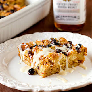 New Orleans Bourbon Bread Pudding with Bourbon Sauce.