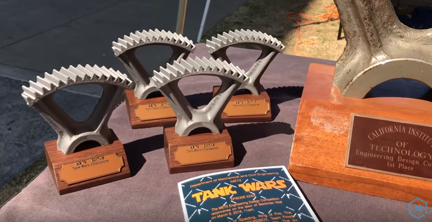 The awesome Tank Wars trophies!