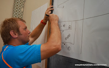 Photo: Assistant Coach Tom Harris prepares for final technical briefing  [Leone Stars v Swaziland 31 May 2014 (Pic: Darren McKinstry)]