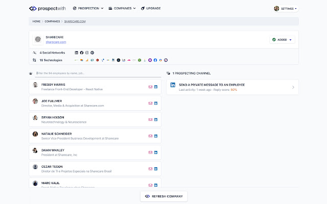 ProspectWith Extension