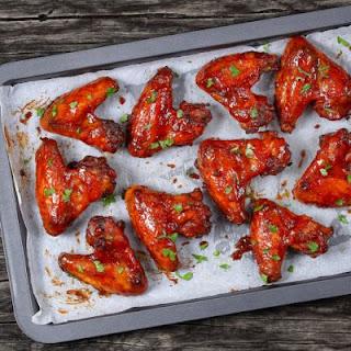 Spicy Plum-glazed Chicken Wings.