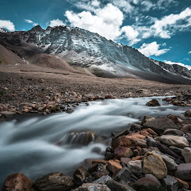 Silky flow  by Dilip Ghosh - Landscapes Mountains & Hills ( landscape )