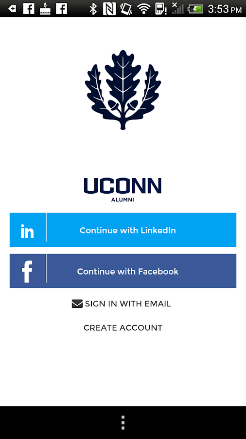 UConn Alumni Community- screenshot