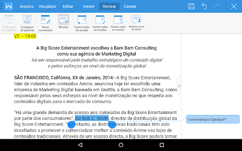 WPS Office - Word, Docs, PDF, Note, Slide & Sheet: miniatura da captura de tela