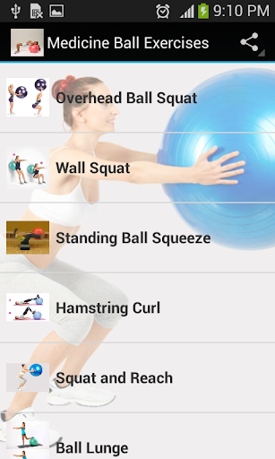medicine ball exercises screenshot 1