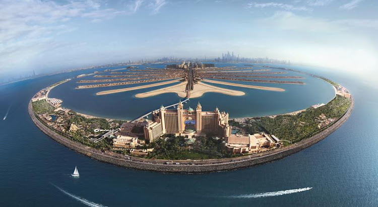 Atlantis the Palm, a five-star ocean-themed hotel, sits offshore from Dubai on a man-made island.