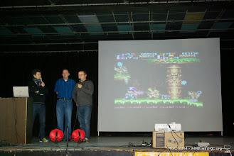 Photo: Présentation Super Fighter Team et PGR au sujet de la réédition de Nightmare Buster sur Super Nintendo.