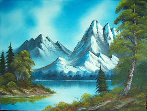 """Photo: 1406 Graceful Mountains. Oil on canvas. 18"""" x 24"""" $249.00"""