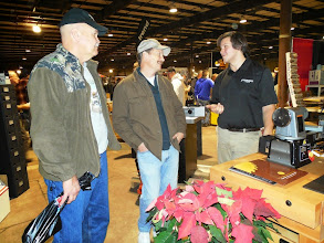 Photo: Dave Lanpher and some buyers shared a laugh.