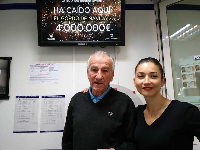 Mateo Vicente y Francisca Ocaña, de la administración de Carrefour.