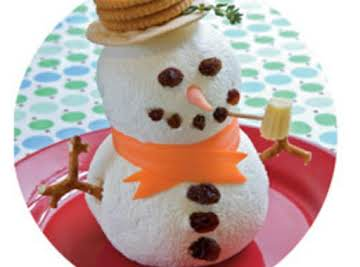 Frosty the snowman cheese ball