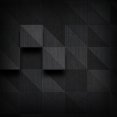 Black Pattern Atom Theme