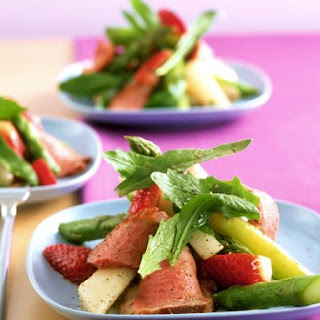 Asparagus, Strawberry and Duck Salad.