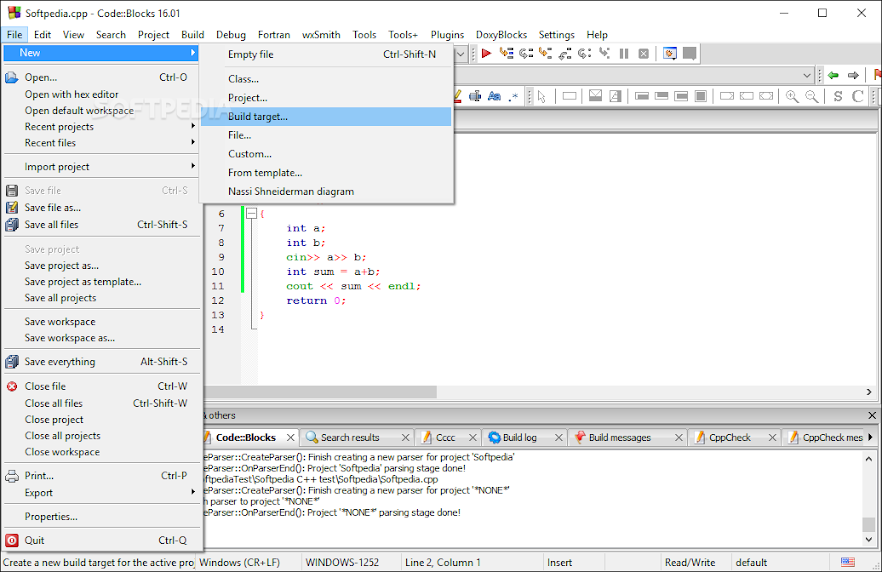 Phần mềm Lập trình mạnh mẽ đa ngôn ngữ Code::Block