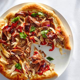 Eggplant and Chicken Caponata Pizza