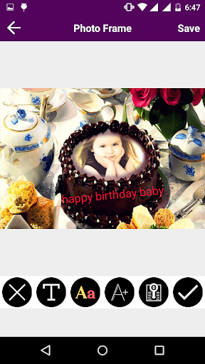 玩免費攝影APP|下載Birthday Cake Photo Frame app不用錢|硬是要APP