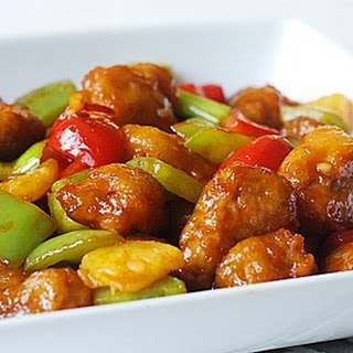Fried Pork with Bell Peppers & Tomatoes