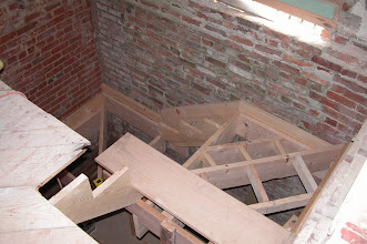 Photo: May 2004 - Month 9: Rear stairway - progress!