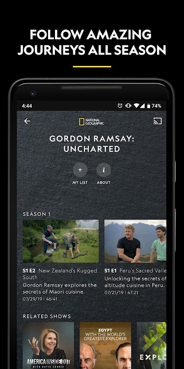 Nat Geo TV: Live & On Demand – (Android Apps) — AppAgg