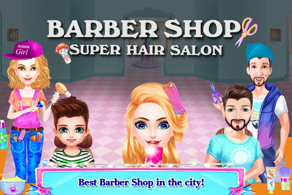 barber shop super hair salon jeux de
