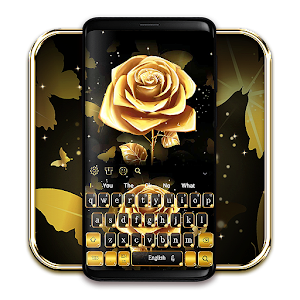 Luxury Gold Rose Keyboard for PC