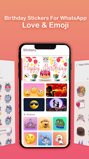Birthday Stickers For WhatsApp-Love & Emoji