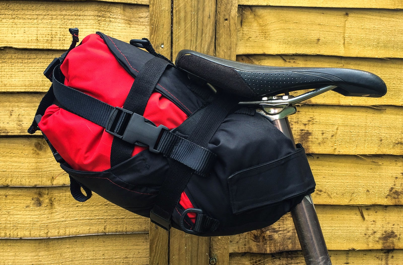 Photo: My finished compression seat pack inspired by the Wildcat Tiger design, but not nearly as good! I think a MKii will be necessary at some point!
