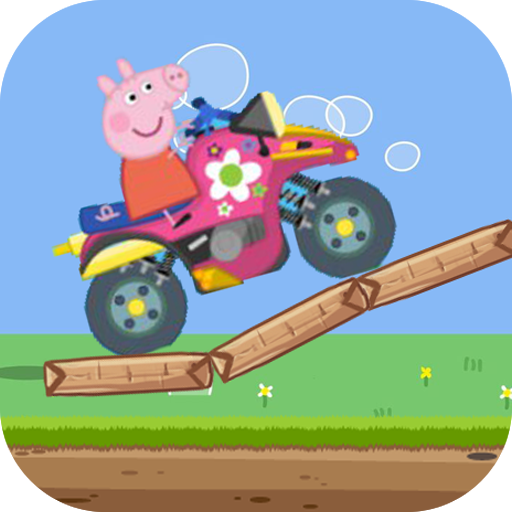 pepa happy pig riding