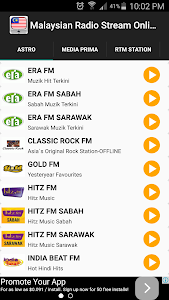 Malaysian Radio Stream Online screenshot 0