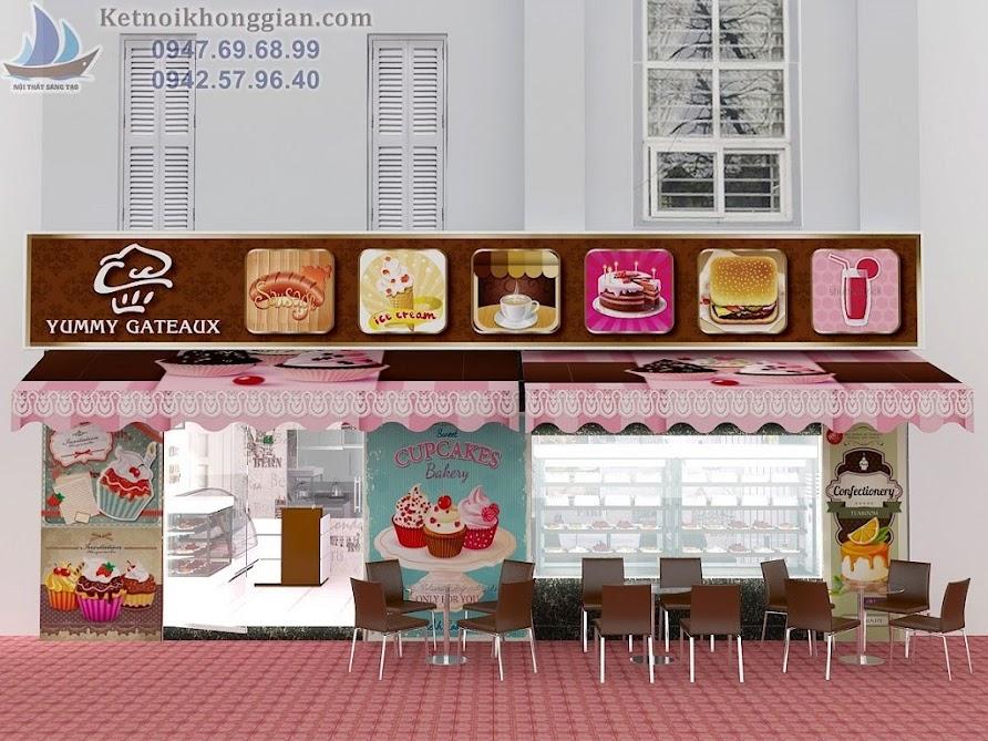 thiết kế cửa hàng bánh ngọt ấn tượng