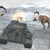 Dino World Tank Simulator Crazy world war 2 Battle