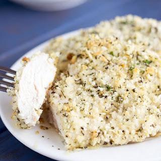 Parmesan Breadcrumb Chicken.