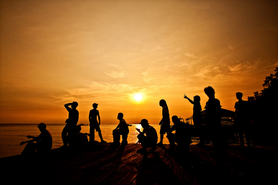 Waiting for sunset by Dicky Andryanto - People Group/Corporate