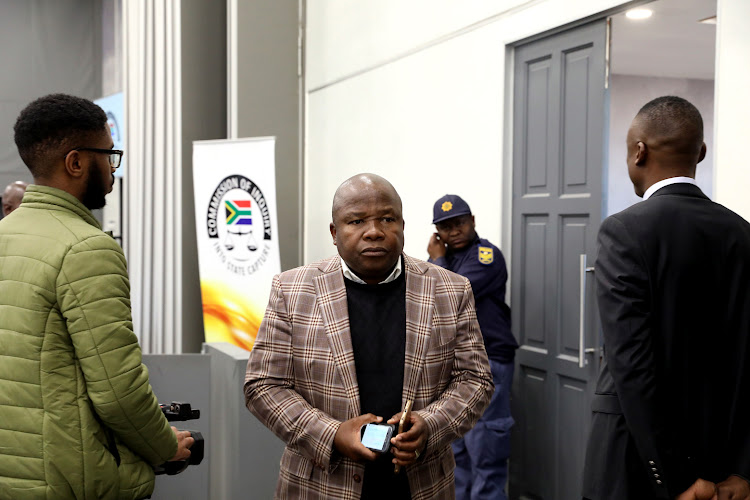 Former Cogta and finance minister Des van Rooyen seen at the commission of inquiry into state capture at Parktown, Johannesburg, where former president Jacob Zuma is testifying on Tuesday.