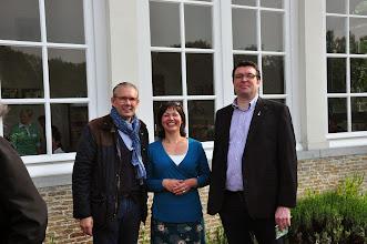 Photo: Wim's echtgenote Sabrina geflankeerd door twee topchefs...