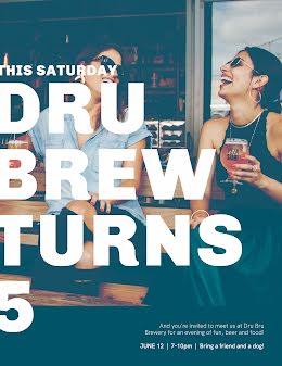Dru Brews Bday - Birthday Flyer item