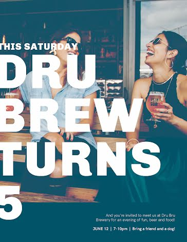 Dru Brews Bday - Birthday Template