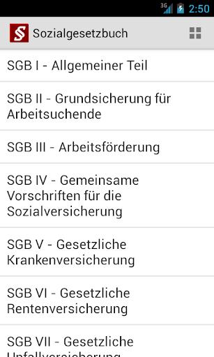Sozialgesetzbuch screenshot 1