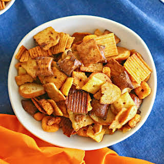 Slow Cooker Snack Mix.