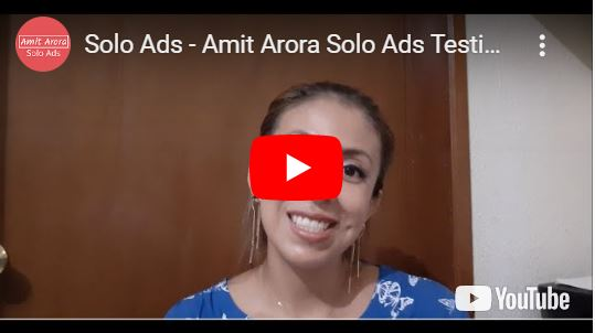 Amit Solo Ads Testimonial - solo ads for clickbank