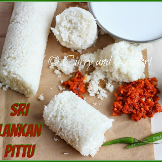 Sri Lankan Pittu (Rice Flour and Coconut Dish).