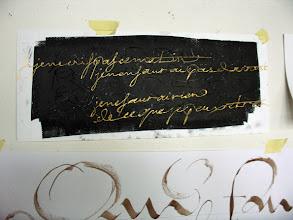 Photo: 20-Marie-Odile, écriture coulée